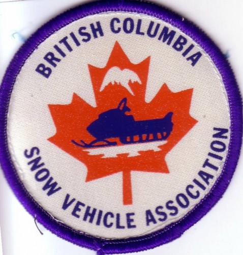 British Columbia Snow Vehicle Association badge